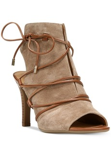 Franco Sarto Quinera Peep-Toe Lace-Up Sandals Women's Shoes