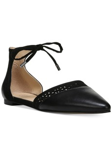 Franco Sarto Shirley Pointed-Toe Ankle Tie Flats Women's Shoes