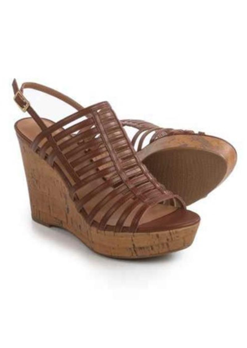 c8ad7f7cf1 Franco Sarto Franco Sarto Sombre Strappy Wedge Sandals - Leather ...