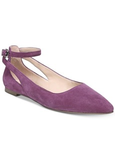 Franco Sarto Sylvia Ankle-Strap Flats Women's Shoes