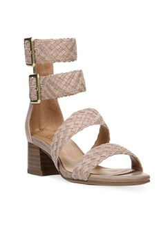 Franco Sarto Tomo Leather-Blend Double Ankle Strap Sandals