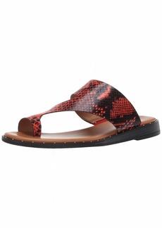 Franco Sarto Women's Ginny Slide Sandal red  M US