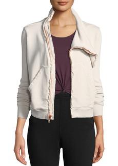 Frank & Eileen Asymmetric Zip-Front Fleece Jacket