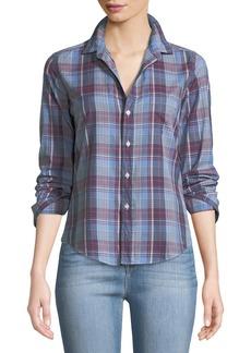 Frank & Eileen Barry Button-Front Cotton Plaid Shirt