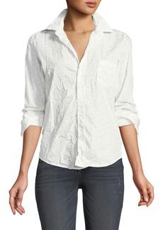 Frank & Eileen Barry Dot-Print Long-Sleeve Poplin Shirt