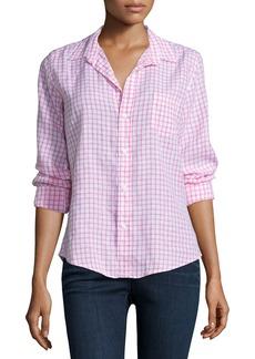 Frank & Eileen Barry Long-Sleeve Grid-Print Shirt