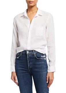 Frank & Eileen Barry Woven Button-Up Heart-Print Shirt