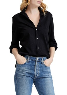 Frank & Eileen Button-Down Long-Sleeve Cotton Shirt  Black