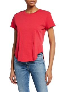 Frank & Eileen Crewneck Short-Sleeve High-Low Vintage Tee  Red