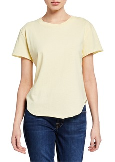 Frank & Eileen Crewneck Short-Sleeve High-Low Vintage Tee  Yellow