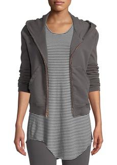 Frank & Eileen Distressed Fleece Zip Hoodie Sweatshirt Jacket