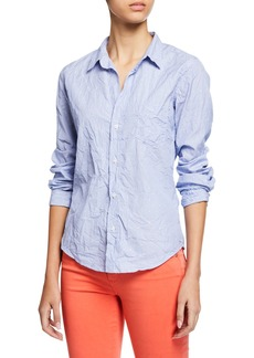 Frank & Eileen Dot-Print Button-Down Long-Sleeve Cotton Poplin Shirt