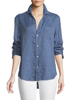 Frank & Eileen Eileen Button-Down Linen Chambray Shirt