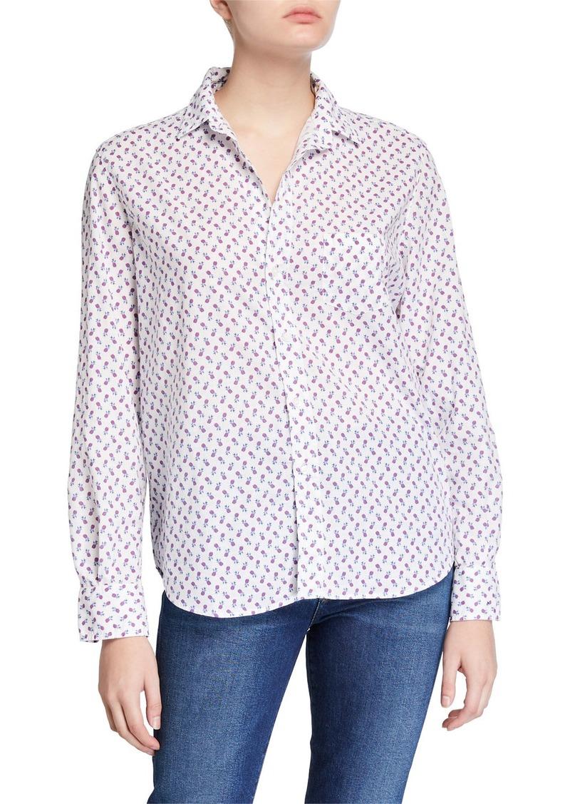 Frank & Eileen Eileen Button-Down Printed Chambray Shirt