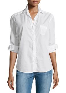 Frank & Eileen Eileen Button-Front Poplin Shirt  White
