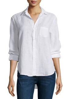 Frank & Eileen Eileen Button-Front Shirt  White