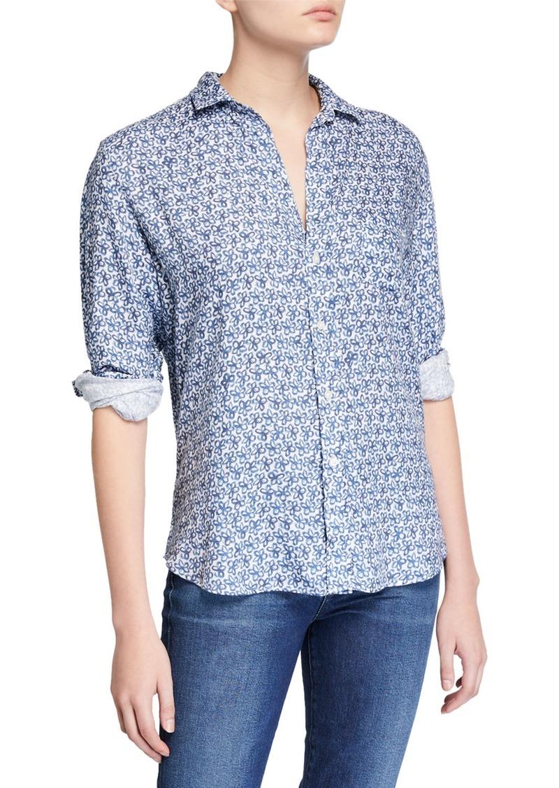 Frank & Eileen Eileen Floral Button-Down Long-Sleeve Modal Shirt
