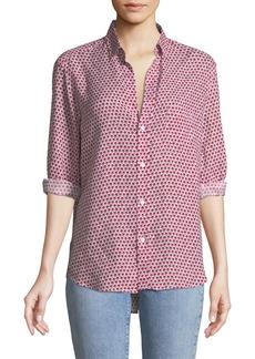 Frank & Eileen Eileen Long-Sleeve Button-Down Floral-Print Linen Shirt