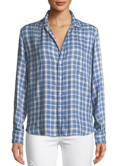Frank & Eileen Eileen Long-Sleeve Button-Front Check-Print Modal Shirt