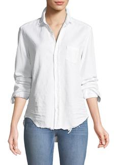 Frank & Eileen Eileen Long-Sleeve Button-Front Cotton Shirt