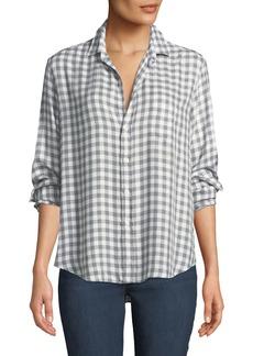Frank & Eileen Eileen Long-Sleeve Button-Front Gingham Check Modal Shirt