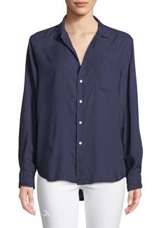 Frank & Eileen Eileen Long-Sleeve Button-Front Modal Pocket Shirt
