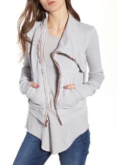 Frank & Eileen Asymmetrical Zip Fleece Jacket
