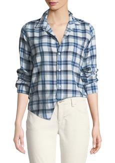 Frank & Eileen Barry Button-Front Check Cotton Shirt