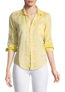 Frank & Eileen Barry Button-Front Faded Linen Shirt