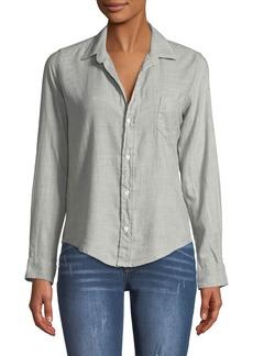 Frank & Eileen Barry Button-Front Long-Sleeve Cotton Shirt
