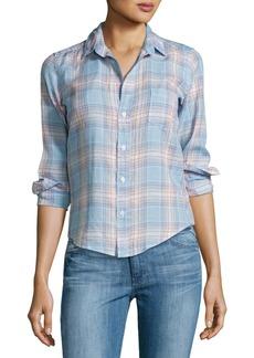 Frank & Eileen Barry Plaid Long-Sleeve Linen Shirt
