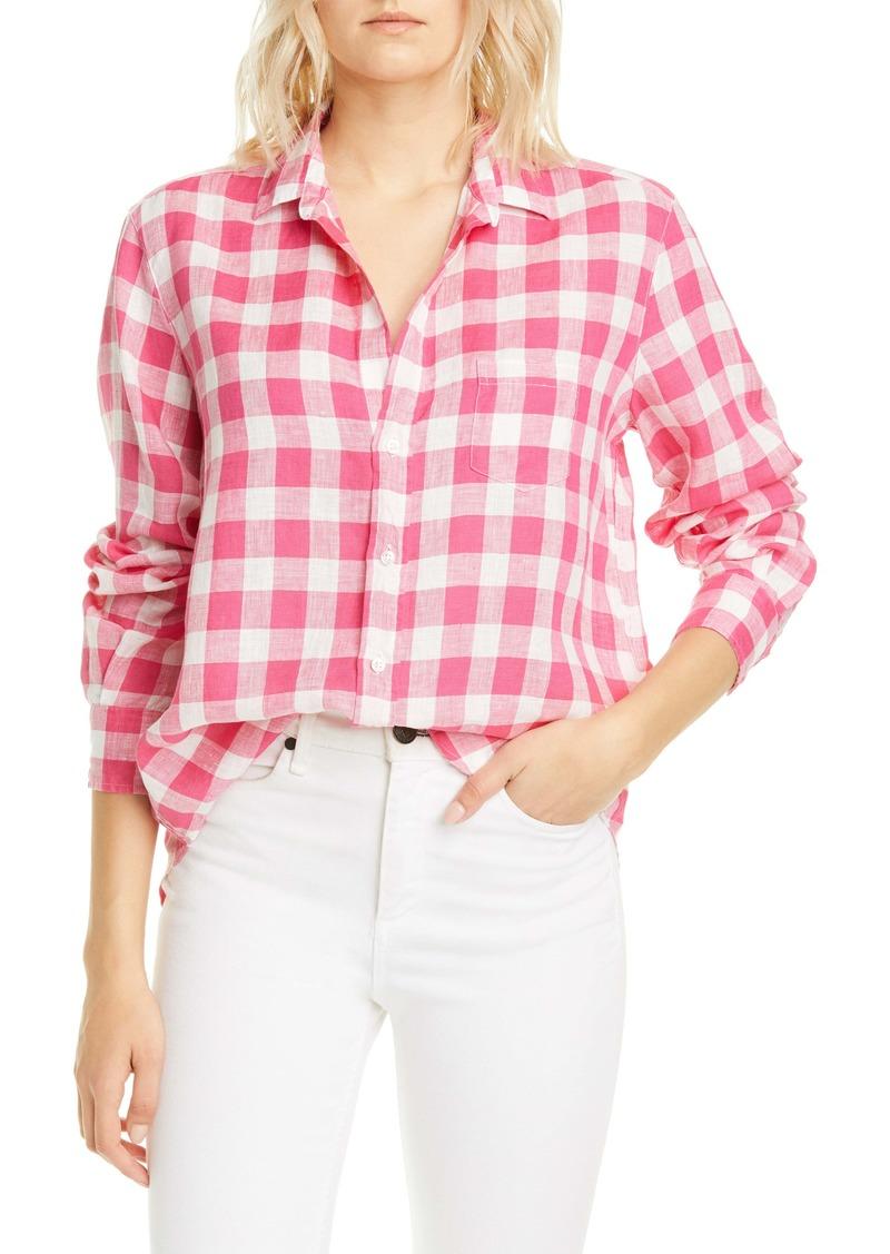 Frank & Eileen Check Linen Button-Up Shirt