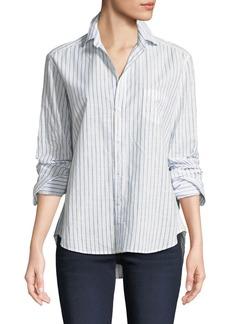 Frank & Eileen Eileen Long-Sleeve Button-Down Classic Stripe Cotton Shirt