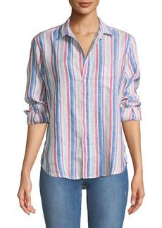 Frank & Eileen Eileen Long-Sleeve Striped Linen Button-Down Shirt