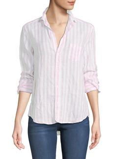 Frank & Eileen Eileen Striped Long-Sleeve Linen Shirt