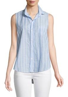 Frank & Eileen Fiona Sleeveless Striped Button-Down Shirt