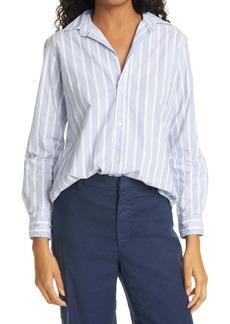 Frank & Eileen Frank Plaid Crepe Button-Up Shirt