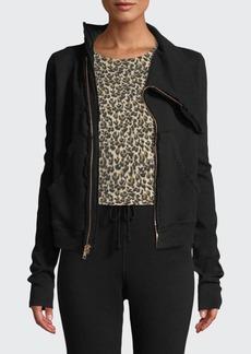Frank & Eileen Frayed Zip-Front Fleece Jacket