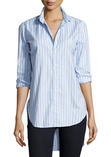 Frank & Eileen Grayson Long-Sleeve Striped Italian Twill