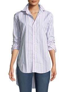 Frank & Eileen Grayson Striped Long-Sleeve Button-Down Shirt