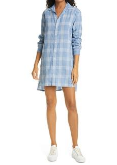 Frank & Eileen Hunter Linen Blend Long Sleeve Button-Up Dress
