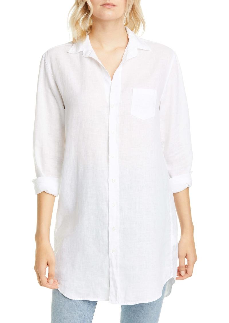 Frank & Eileen Mary White Linen Button-Up Shirt