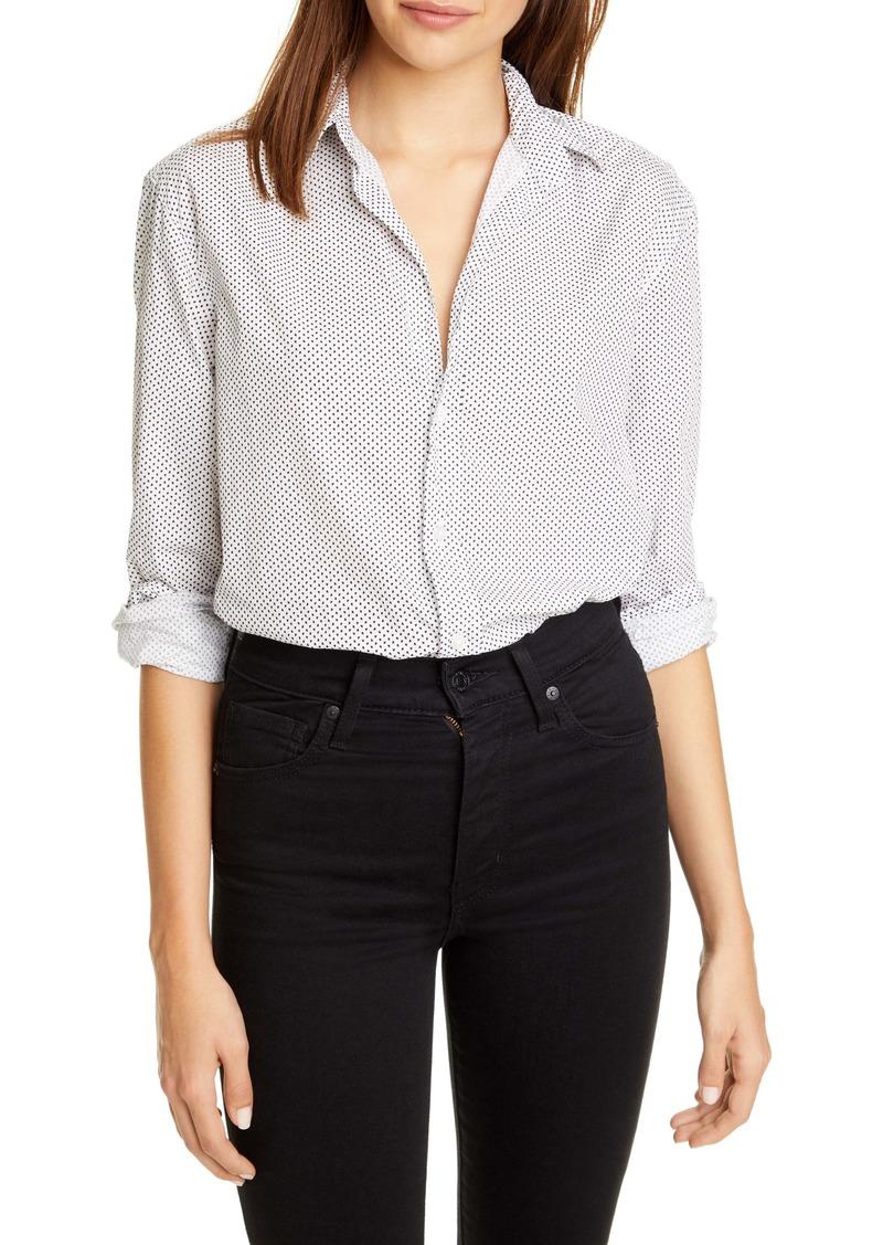 Frank & Eileen Mini Heart Print Cotton Button-Up Shirt