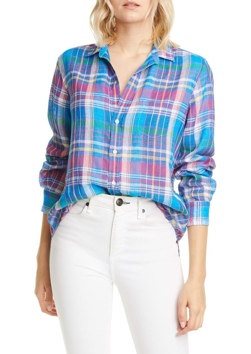 Frank & Eileen Plaid Linen Button-Up Shirt