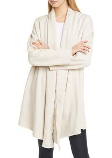 Frank & Eileen Raw Edge Cotton Fleece Drape Coat