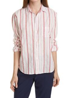 Frank & Eileen Stripe Linen Button-Up Shirt