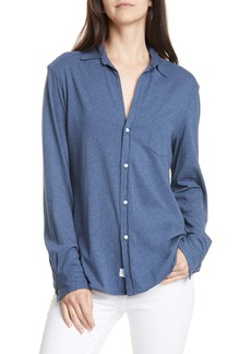 Frank & Eileen Tee Lab Eileen Cotton Jersey Button-Up Shirt