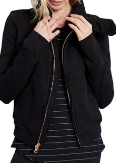 Frank & Eileen Tee Lab Frayed Zip-Front Fleece Jacket