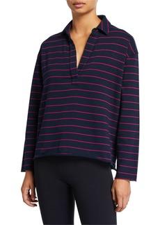 Frank & Eileen Tee Lab Striped Long-Sleeve Pullover Henley Sweatshirt
