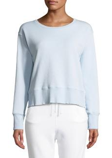 Frank & Eileen Frayed Crewneck Cotton Sweatshirt